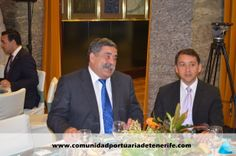 De izquierda a Derecha: Don Pedro Rodríguez Zaragoza, Presidente de la Autoridad Portuaria de Santa Cruz de Tenerife; Don José Manuel Bermúdez Esparza, Alcalde de Santa Cruz de Tenerife.