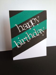 I'm in Haven—Jumbled Happy Birthday die by Poppy Stamps...