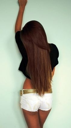 gorgeous long straight hair.