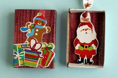 Matchbox Ornaments by Wendy Copley, via Flickr