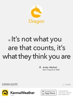 Chinese Zodiac Quotes: Dragon #Warhol