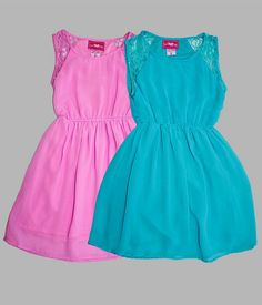Wholesale Girls Summer Fashion GLP73413 Girls 7-16 Chiffon Hi-Lo Dress SKWholesale.net