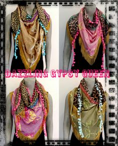 Gypsy Ibiza Triangle Shawls by Dazzling Gypsy Queen