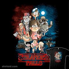 """""""Stranger Falls"""" by trheewood Gravity Falls in the style of Stranger Things"""