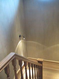 Wooden stairs, belgian interior