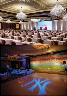 For Yankees fans everywhere, this ballroom-turned-baseball field celebration was a home run at Four Seasons Hotel Westlake Village. Evergreen Forest, Yankees Fan, Westlake Village, Ballrooms, Four Seasons Hotel, Baseball Field, Celebration, Fans, Table Decorations