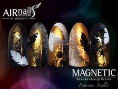 АЭРОГРАФИЯ НА НОГТЯХ, краски и трафареты Goth Nails, My Nails, Gorgeous Nails, Manicures, How To Do Nails, Nail Designs, Feather, Nail Art, French
