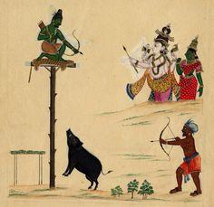Arjuna and Kirata