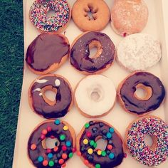 This has nothing to do with fandom, but I want all of you to admire these donuts