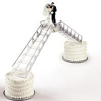 "Plastic crystal look Bridge and Stairway set Includes: two stairways (16¾"" long) and one platform (4¾"" wide x 5"" long)."