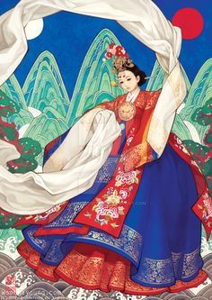 Coronet dance - Women in Hanbok by theobsidian.deviantart.com on @DeviantArt