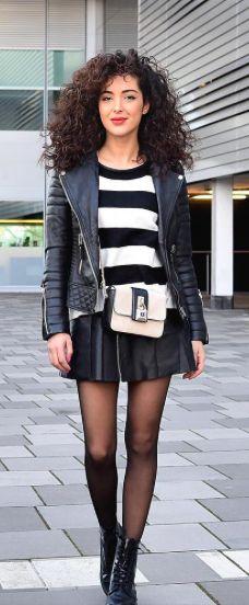 #street #style / black & white stripes