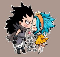 Chibi GaLe. GaLe week is Feburaury 14-19. Spread the word! This is the week where you write up seven one shots about this couple to celebrate their relationship.