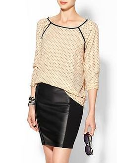 Cute polka dot blouse by Tinley Road
