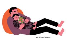 Our Hearts Belong to Daddy. From In This Book written by Fani Marceau and illustrated by Joëlle Jolivet.