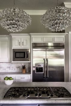 A Glamorous Makeover: Paloma Contreras Design  #kitchen #lighting