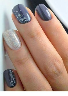 Beauty nails for Winter – Nice Ladies | I want these - they are so pretty ♥ | Pinned by Zefinka.com