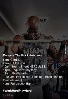 """ The Rock ain't no two minute man"" hahaha"