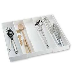 """Expand-a-Drawer® Utensil Trays Made in the USA - fit your kitchen drawers and keep utensils organized. Ours say """"Expandables: Made in the USA"""" with the patent number; These are also made in the USA but under a different name. In any event, they work very well to keep things in our kitchen drawers neat and easy to find."""