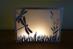 DIY Candle Holder Dragonfly Craft Silhouette