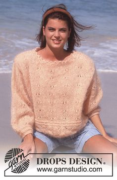 Free knitting patterns and crochet patterns by DROPS Design Sweater Knitting Patterns, Free Knitting, Crochet Patterns, Drops Design, Garnstudio Drops, Crochet Diagram, Mohair Sweater, Knit Fashion, Chain Stitch