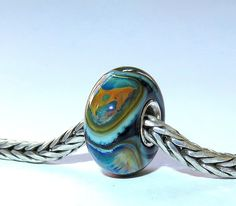 Luccicare Lampwork Bead - Dragon XVIII -  Lined with Sterling Silver by Luccicare on Etsy