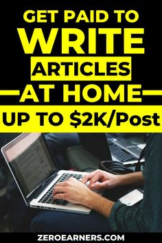 Want to get paid to write articles at home? Yes? Here are some of the best places to get paid to write articles at home. #writearticles #writingjobs #getpaidtowrite #gpt #makemoneyonline #parttimejobs #freelancejobs #sidehustles #extramoney #sidegigs