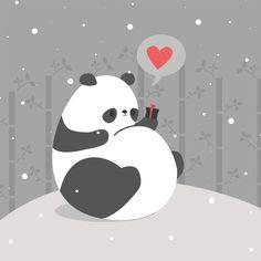 Snow Panda by pronouncedyou #panda #love #pronouncedyou