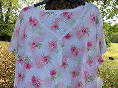 NWT 3XL Flower-print pajama SET Charter Club Plus size NEW #CharterClub #PajamaSets