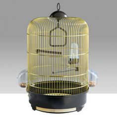 Imac Milly Bird Cage - White or Brass Bird Cages For Sale, Bird Cage Stand, Cockatiel, Parakeet, Parrot, Pet Supplies, Ceiling Lights, Pets, Brass