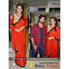 Bollywood Replica - Sonakshi Sinha Beautiful In Red Saree- 251 (CM-Vol-6)