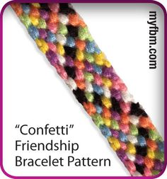 Confetti friendship bracelet pattern! Click for instructions :)