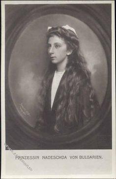 Nadejda Clémentine Maria Pia Majella van Bulgarije, geboren Sofia 30.01.1899, overleden Stuttgart 15.02 1958. Dochter van Ferdinand I Van Bulgarije en Maria Louisa van Bourbon-Parma. Zus van Boris III. Haar moeder stierf een dag na haar geboorte in het kraambed (31.01.1899).