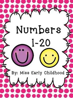 These brightly colored number posters include the numbers 1-20 in fun and alternating colors and backgrounds. Numbers 1-10 are on chevron and 11-20 are on polkdots. Enjoy!