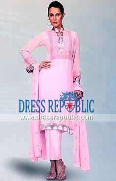 Pink Wemmer, Product code: DR3504, by www.dressrepublic.com - Keywords: Pakistani Casual Shalwar Kameez Collection 2013 Buy Online in USA