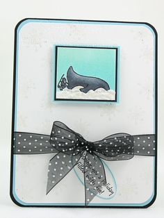 Penguin Antics Face Plant - perfect card for that person who is overwhelmed by the holidays!