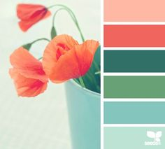 flora hues - design seeds Close to wedding colors! Just need a more sage color and a dark cove/navy and slate gray