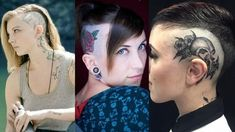 Here are some amazing Head Tattoos for Females and also get information about head tattoos that have to know. Get inspiration for your next head tattoo. Head Tattoos, Foot Tattoos, Girl Tattoos, Sleeve Tattoos, Body Tattoo Design, Full Body Tattoo, Flower Tattoo Foot, Flower Tattoos, Rose Tattoo On Side