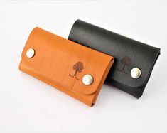 Coin & Credit Case, Small Wallet, Slim Wallet, Small Purse, Change Wallet, Leather Wallet, Leather Bifold - Snaps