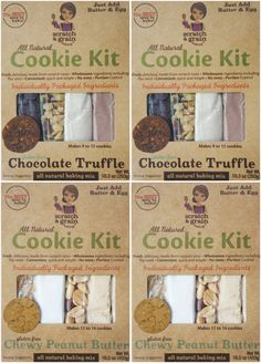 4-Pack Gluten-Free Combo Cookie Kits