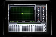 Animoog iPad Synthesizer: We found it very useful for creating sound effects for our app. However, if your so inclined to, you could go much further than that and create the whole soundtrack. It generates very interesting sounds. Loop Music, Moog Synthesizer, Music Gadgets, Technology Updates, Drum Machine, Music App, Geek Out, Mobile App, Doodles