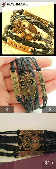 Love Dream owl mutiple layer bracelet Beautiful  multilayer  dream owl bracelet Jewelry Bracelets