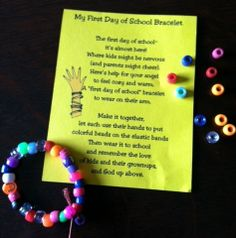 First Day of School Bracelet