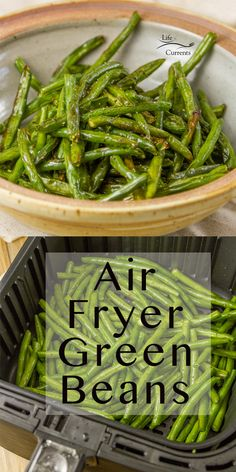 Simple to make Air Fryer Roasted Green Beans are the perfect veggie side dish for any occasion, holiday dinner, or weeknight meal. Heck, I love them just to snack on them! Air Fryer Oven Recipes, Air Frier Recipes, Air Fryer Dinner Recipes, Air Fryer Recipes Green Beans, Veggie Side Dishes, Food Dishes, Roasted Green Beans, Paleo Green Beans, Air Fried Green Beans
