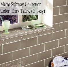 "Discount Glass Tile Store - Metro Subway Tile - Dark Taupe 3"" x 6"" Ceramic Wall Tile $2.49 square foot, $2.49 (http://www.discountglasstilestore.com/metro-subway-tile-dark-taupe-3-x-6-ceramic-wall-tile-2-49-square-foot/)"