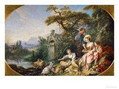 The Shepherd's Presents, (The Nest) Collection of Louis XV Giclee Print by Francois Boucher at Art.com