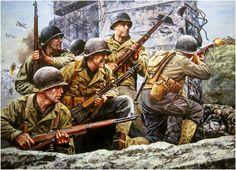 'First At Normandy' (Primeros en Normandía). 6 de junio de 1944, los primeros soldados aliados desembarcan en las playas de Normandía, dando inicio a la liberación de la Europa. Don Stivers. Más en www.elgrancapitan.org/foro/
