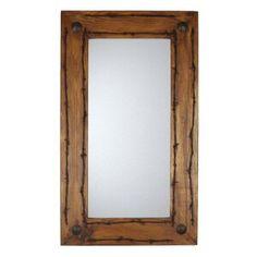 Millwood Pines Kacey Wall Mirror   Wayfair.ca Rustic Wall Mirrors, Round Wall Mirror, Wall Mounted Mirror, Unique Mirrors, Rustic Frames, Distressed Bathroom Vanity, Wood Vanity, Spanish Style Homes, Mirrors Wayfair
