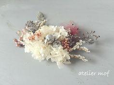 /// ボタニカルmimonoとスモークツリー・ユーカリのヘッドドレス // おしゃれ結婚式の髪飾りに //|ヘッドドレス(ウェディング)|atelier mof|ハンドメイド通販・販売のCreema