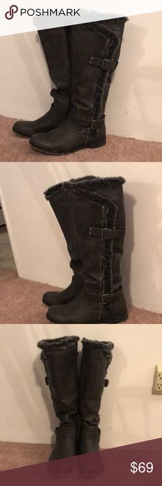 Xandra Boots Women's size 10. They come just below the knee. Worn twice. Charcoal Black/Dark Gray Xandra Shoes Over the Knee Boots